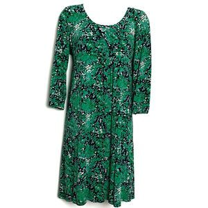 Boden Midi Dress Blue Green floral 10 fit & flare